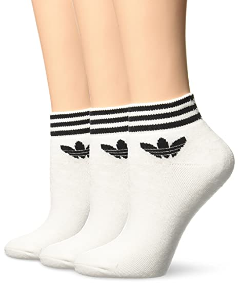 adidas Trefoil Ankle - Calcetines para hombre, color blanco, talla 27-30