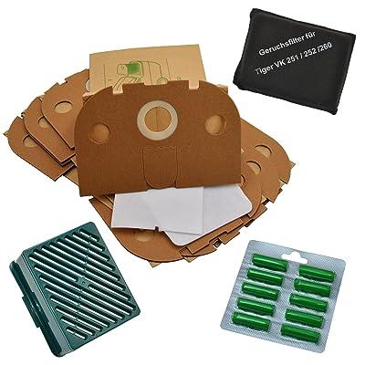 Dispositif de filtration 10 parfums de 10 sacs pour aspirateurs vorwerk tiger 251 et 252