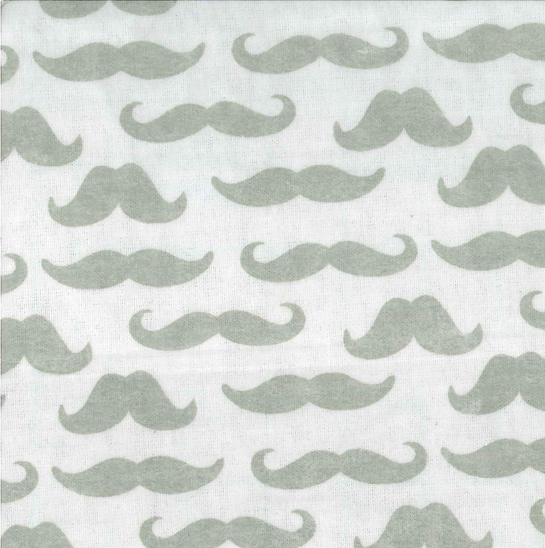 Trend Lab Crib Sheet Mustache 100025