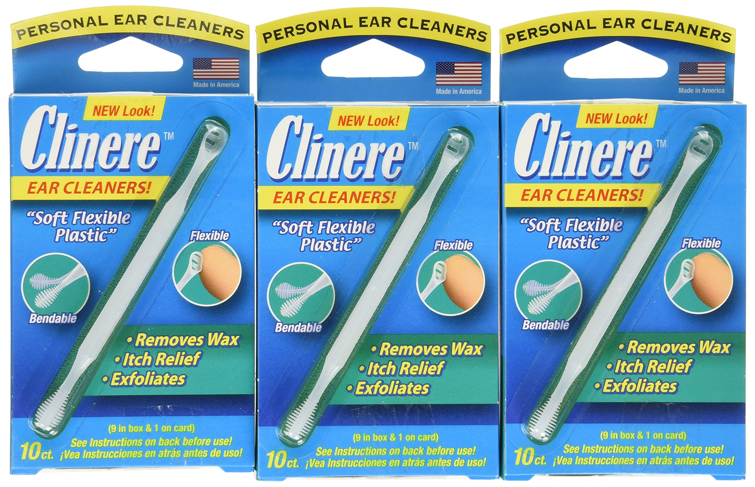 Clinere Ear Cleaners, 10 Count,  (Pack of 3)