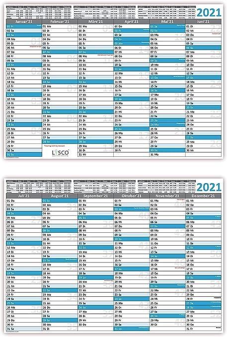 blau 2022 Tischkalender Tafelkalender DIN A4 3 St/ück
