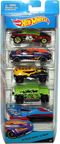 Hot Wheels City Attack Pack 5-Pack BFB32 by Mattel: Amazon.es ...