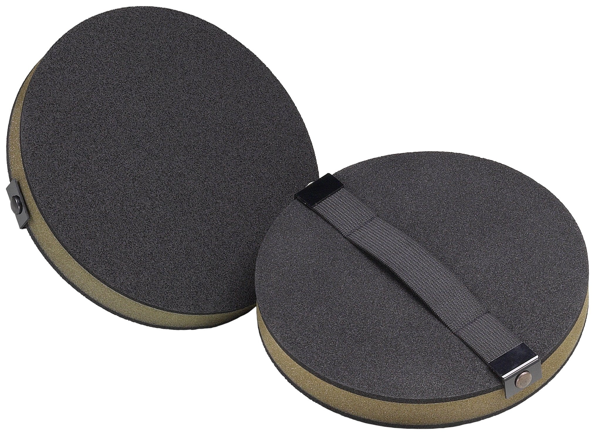 3M Screen Cloth Disc Hand Pad 82793, 8'' Diameter, 1'' Thick, Black (Pack of 10)
