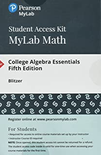 College algebra essentials robert f blitzer 9780131090408 amazon mymathlab with pearson etext standalone access card for college algebra essentials fandeluxe Choice Image