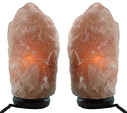 Amazoncom Himalayan Natural Salt Lamp Two Pack Multiple Sizes 6