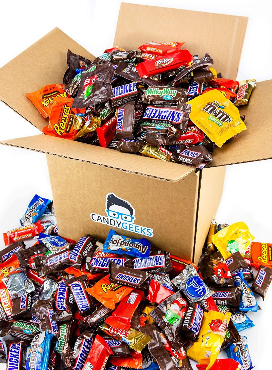 Candy Geeks 'Funsize' All Chocolate Bulk Candy Boxes || 8lb Box Of Fun Size Chocolate And Candy Varieties