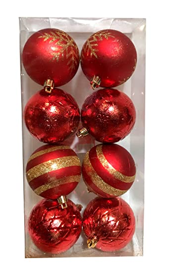 shatterproof ornaments various counts gold red silver green brown - Red And Silver Christmas Decorations