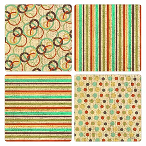 Amazon CoasterStone AS60 Absorbent Coasters 606060Inch Beauteous Kaleidoscope Patterns