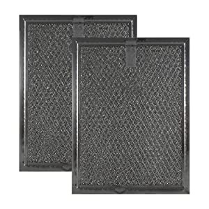 "2 Pack Air Filter Factory Compatible Replacement for Frigidaire FGMV174KFA Microwave Mesh Grease Filter 6"" x 8"" x 3/32"" AFF81-M2"