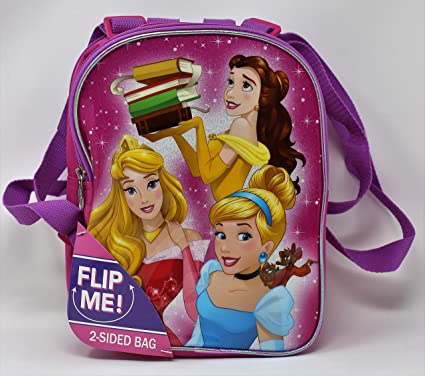 Disney Princesses - Girl s 10 quot  2 Sided Bag Mini Princess Backpack -  Featuring  Disney 34016f1f3ef16