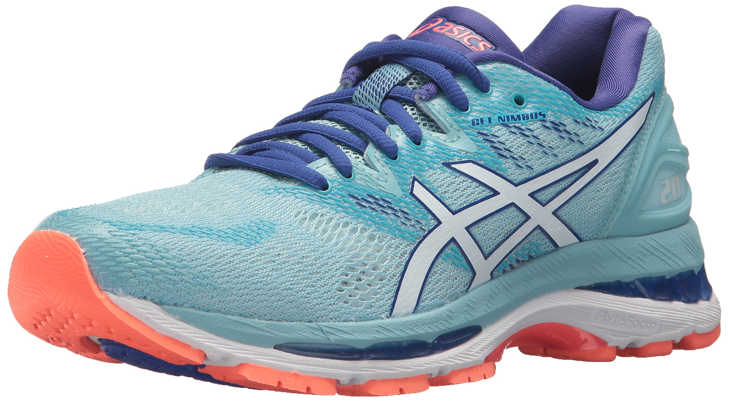 ASICS Women's Gel-Nimbus 20 Running Shoe, porcelain blue/white/asics blue, 11.5 Medium US by ASICS