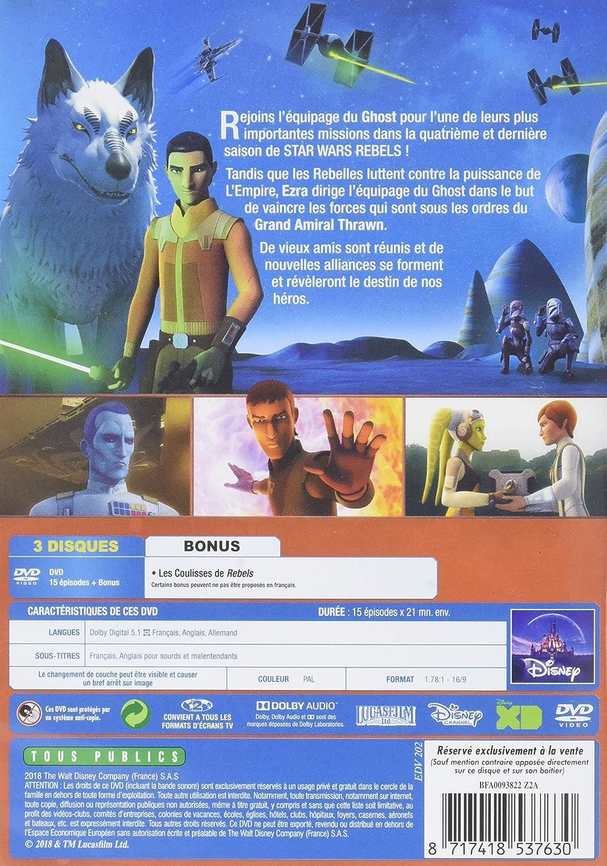 Star Wars Rebels - Lintégrale de la saison 4 Francia DVD: Amazon.es: Dave Filoni, Steward Lee, Saul Ruiz, Sergio Páez, Bosco Ng, Justin Ridge: Cine y Series TV