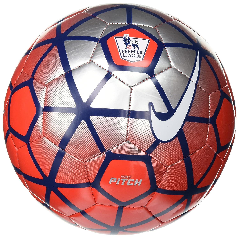 Nike Pitch PL - Balón Unisex, Color Rojo/Plata/Blanco, Talla 5 ...