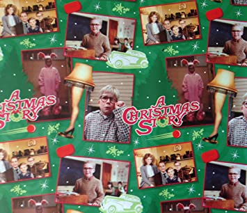 Amazon.com: Movie Scenes from A CHRISTMAS STORY Gift Wrap HOLIDAY ...
