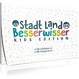 Goods & Gadgets Stadt, Land, Besserwisser KIDS Junior Edition für Kinder - der Spiele-Klassiker Stadt Land Fluss in der XXL Neuauflage mit 39 Kategorien