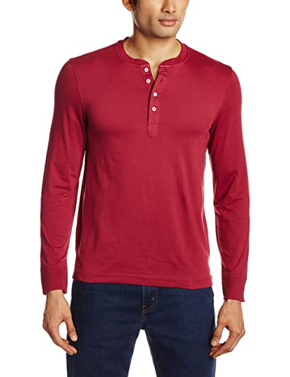 2ffb1edce5d3 Freecultr Men's Henley T-Shirt: Amazon.in: Clothing & Accessories