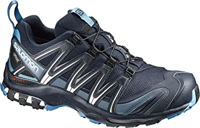 SALOMON L39332000 XA PRO 3D Gore TEX® Herren Outdoorschuh mit Ortholite Fußbett, Groesse 44 23, dunkelblaublau