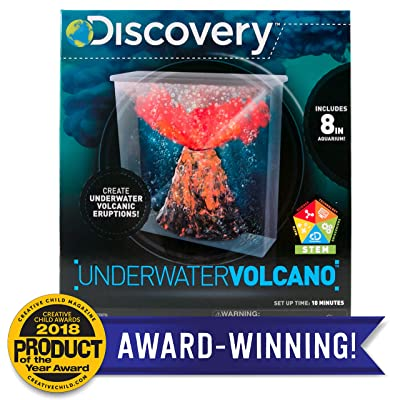 Discovery Under Water Volcano Eruption by Horizon Group Usa, Perform Stem Science Fair Experiments with Bubbly, Fizzy, Lava Eruptions, Model:765940739068: Toys & Games