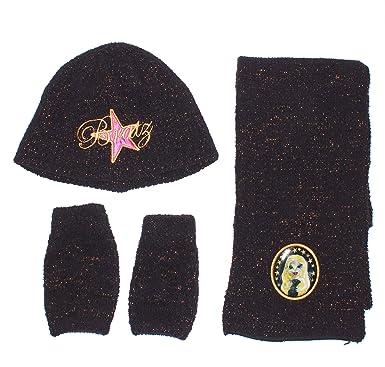 Bratz - Ensemble bonnet, écharpe et gants - Fille noir  Amazon.fr ... 0dd79b6fb9c