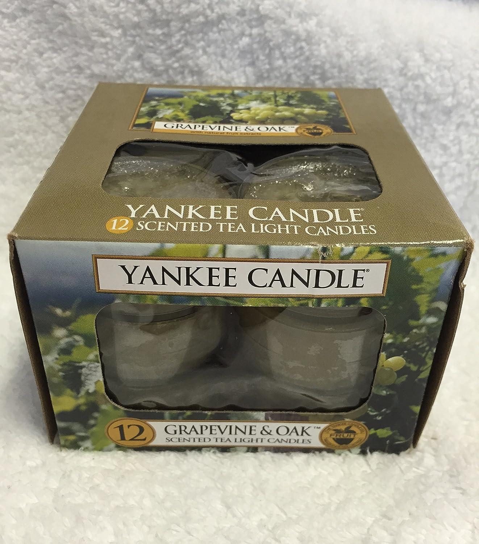 Yankee Candle Grapevine & Oak & $ 153 ;、ワイン香り Scented Tea Lights 1221474-YC B007ZFDMF8  Scented Tea Lights