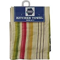 More Essentials 3 Piece Cotton Kitchen Towel - Multicolour