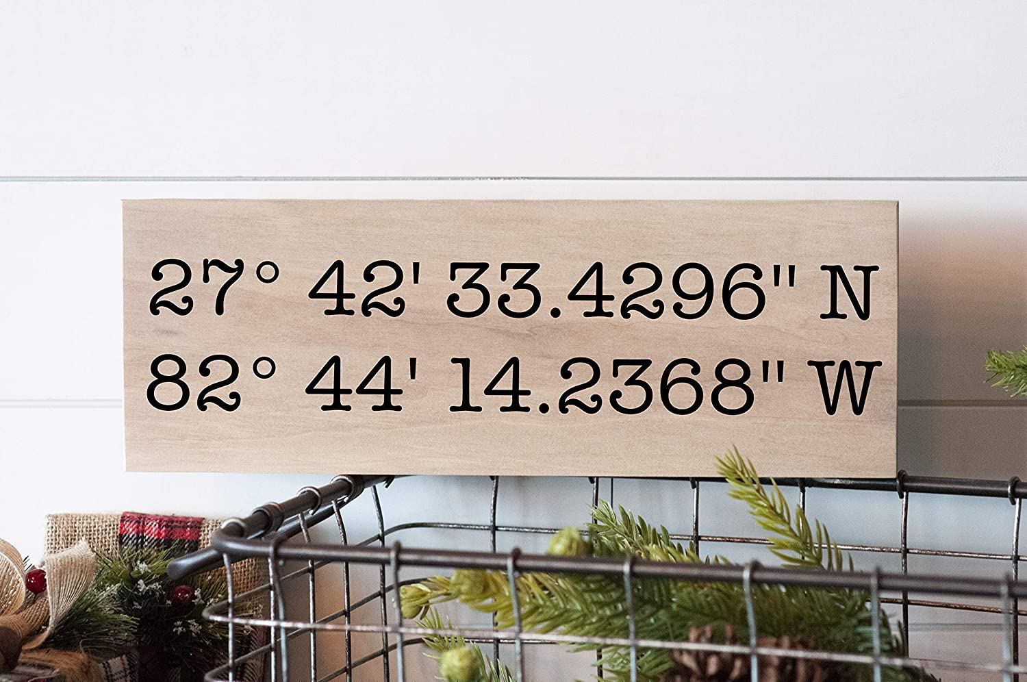 Wedding Gift, Latitude Longitude Wood Sign, Gift for Her GPS Coordinates  Sign Personalized Gift Home Decor Sign Gift for Him
