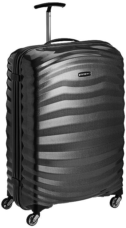 e4f61e889f Samsonite Lite-Shock Hand Luggage, 55 Centimeter Cabin Spinner, 36 Liters,  Black: Amazon.co.uk: Clothing