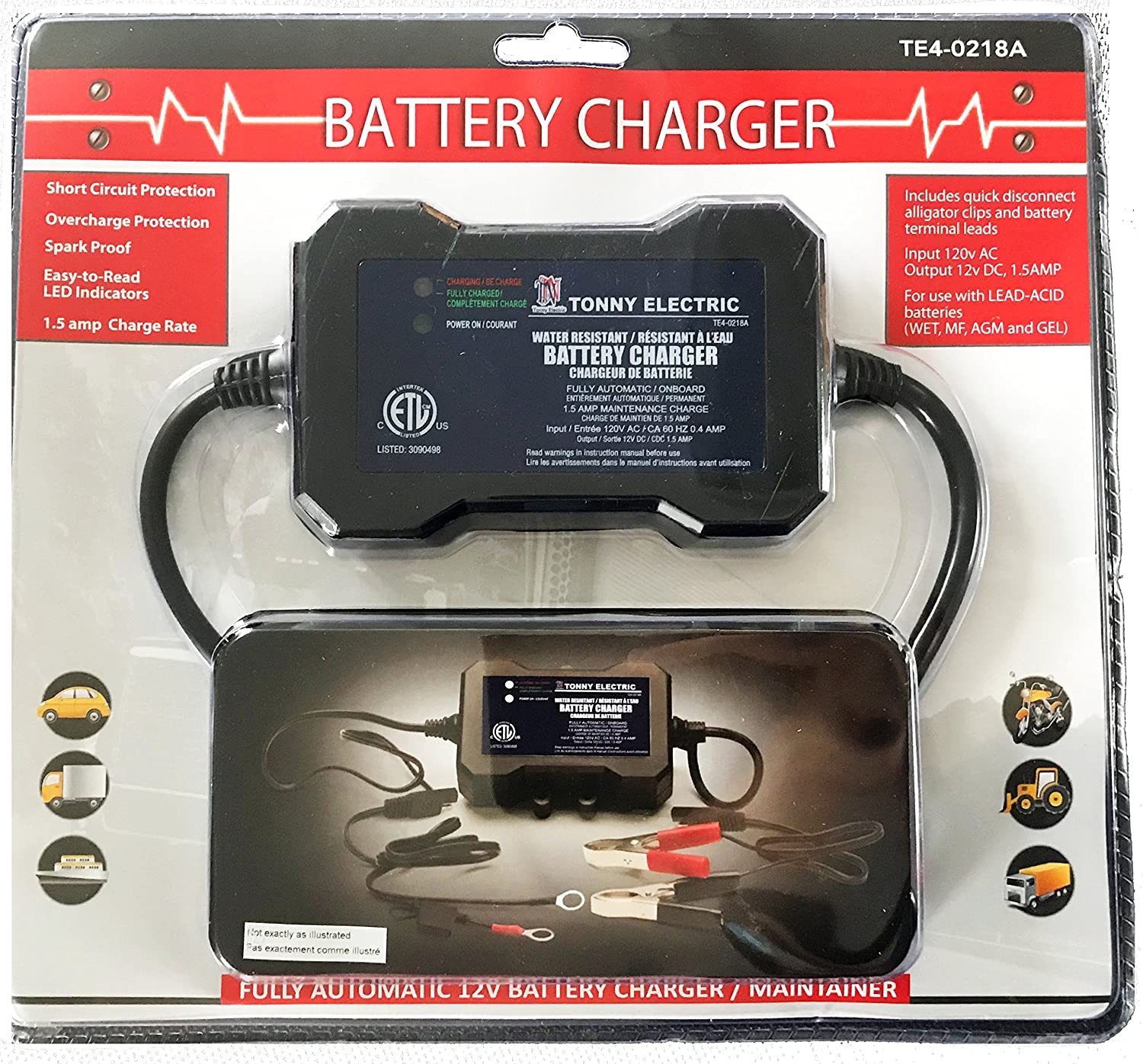 battery charger maintainer 1 5 amp, battery chargers amazon canada