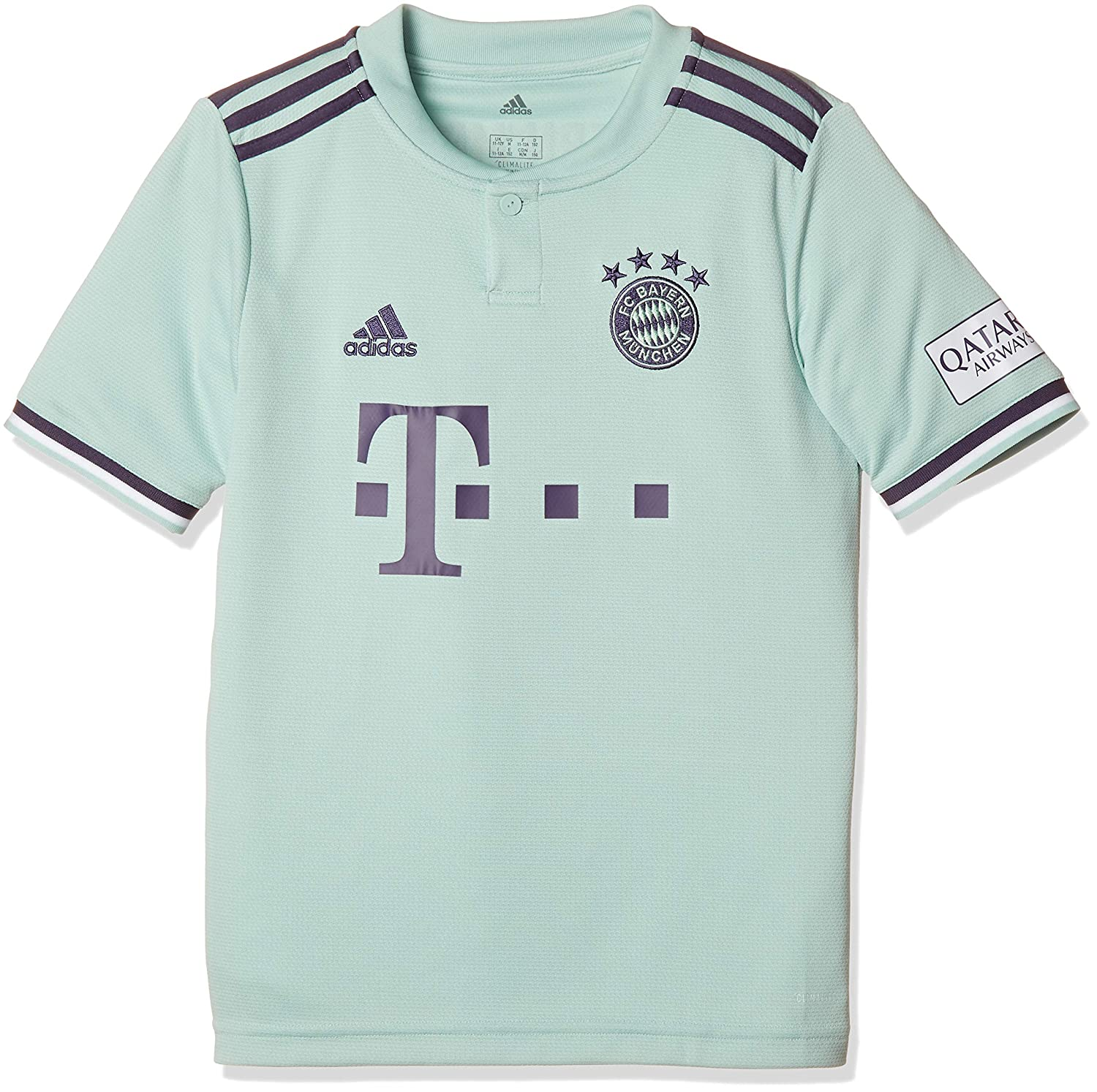 buy online 1852f 7f393 adidas 2018-2019 Bayern Munich Away Football Soccer T-Shirt ...