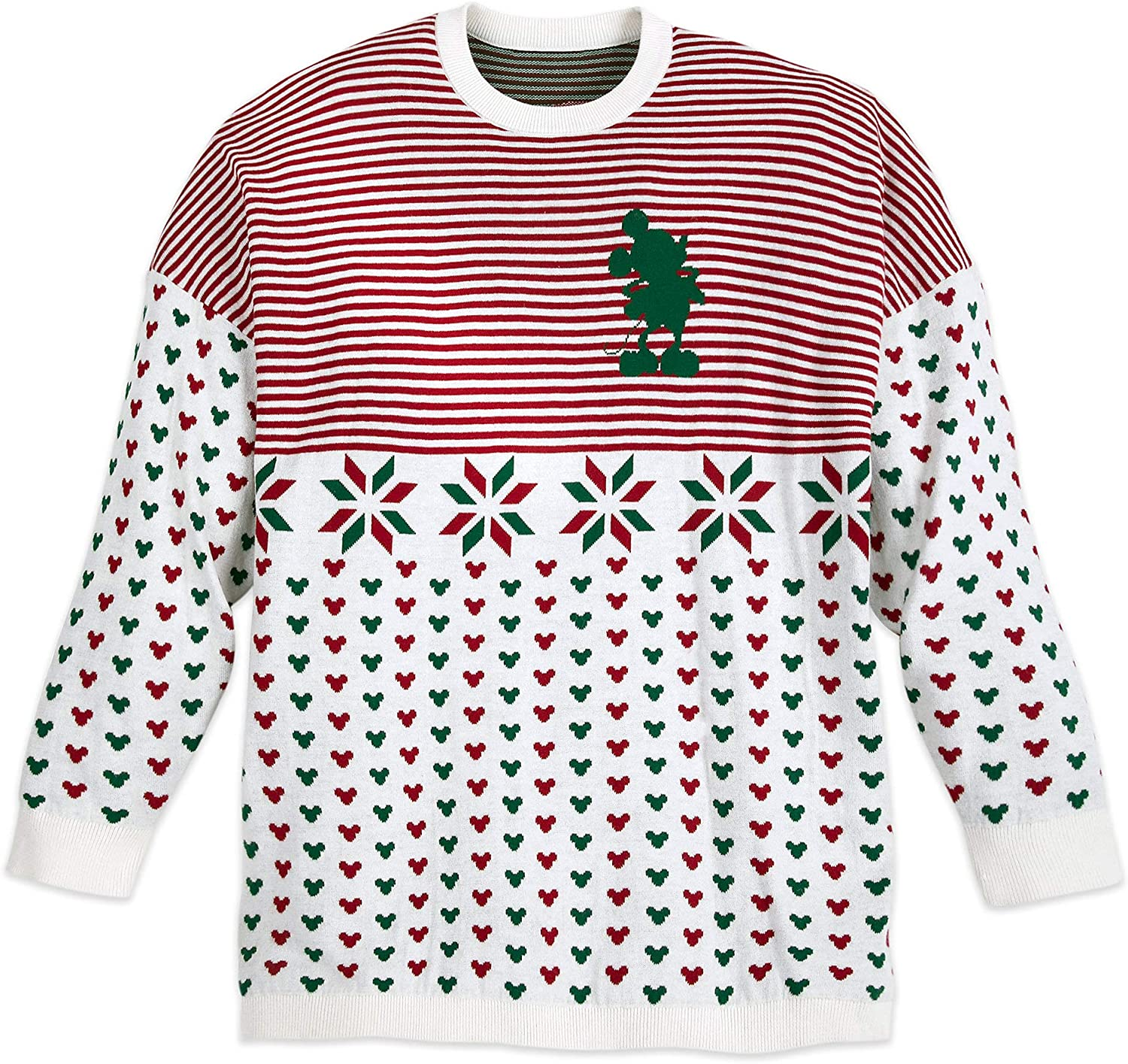 Disney Mickey Mouse Holiday Spirit Jersey Sweater for Adults