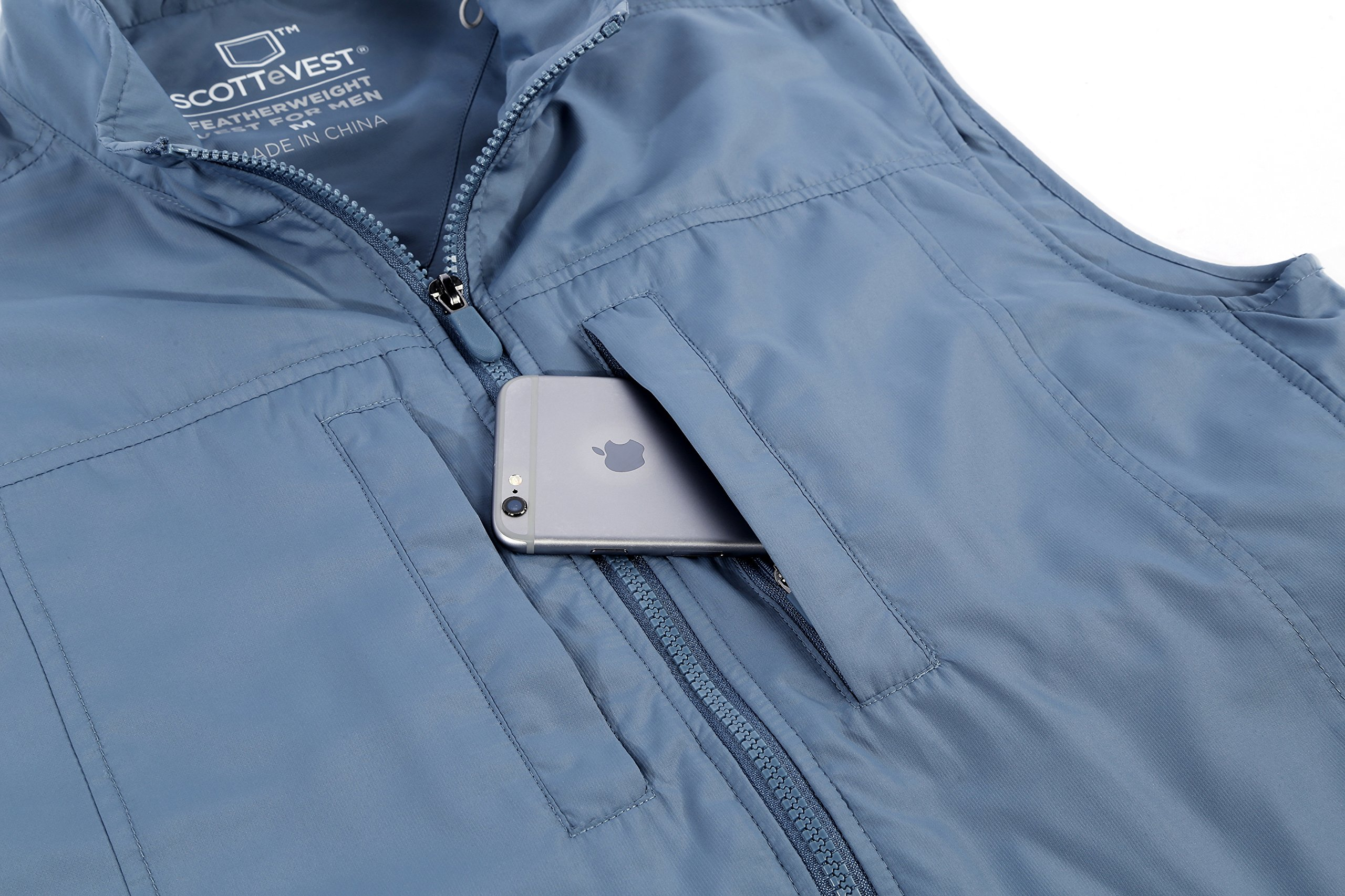SCOTTeVEST Men's Featherweight Vest - 14 Pockets - Travel Clothing CMT L by SCOTTeVEST (Image #5)