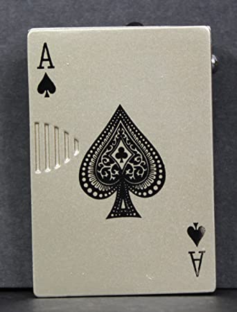 Amazon Playing Cards Style Designer Butane Jet Flame Refillable