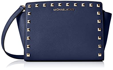 fc9fddaf63f773 Image Unavailable. Image not available for. Color: MICHAEL Michael Kors  Womens Selma Stud Medium Messenger ...