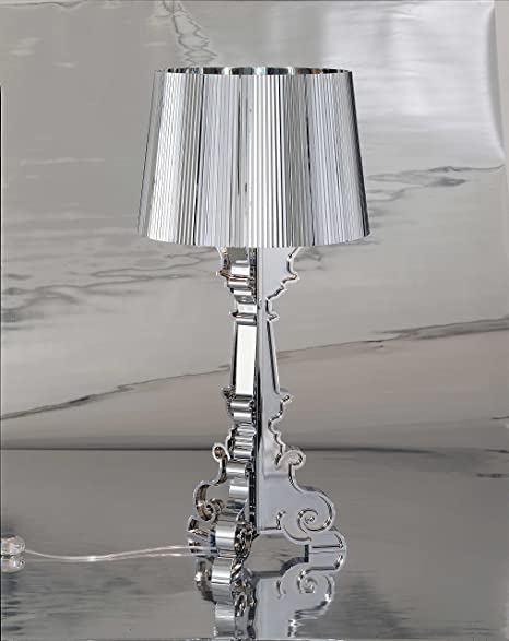 Kartell Bourgie Table Lamp, polycarbonate, crystal, Ø37cm H: 68÷78 ...