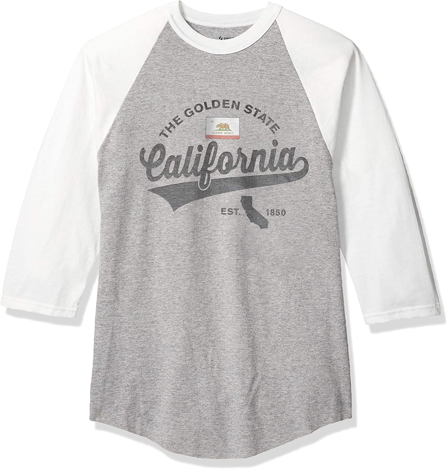 Soffe Men's State Pride Heathered Baseball Jersey
