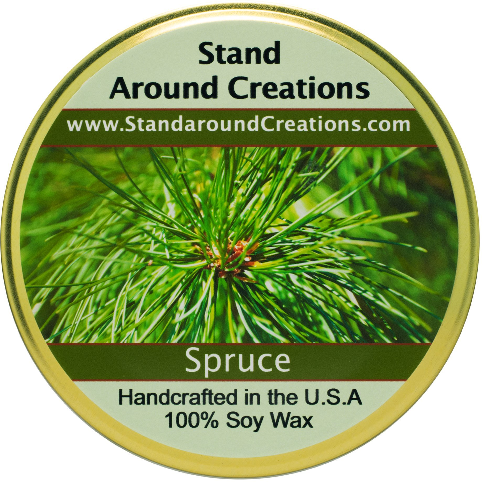 Premium 100% Soy Tureen Candle - 11 oz. - Spruce: More complex than a typical Frasier or Douglas Fir. Capture the spirit of the holidays. Made w/ natural essential oils.