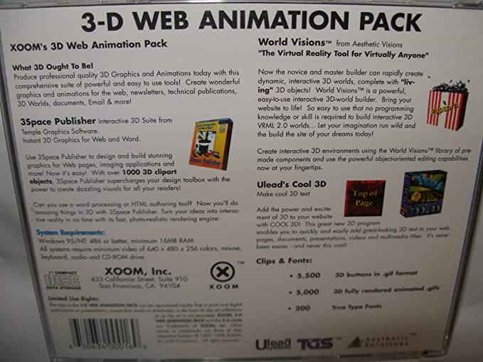 Amazon com: 3-D Web Animation Pack