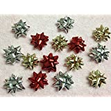 "20pc 1"" Metallic Mini Star Confetti Bows Christmas Gift Wrap Bows (Christmas ..."