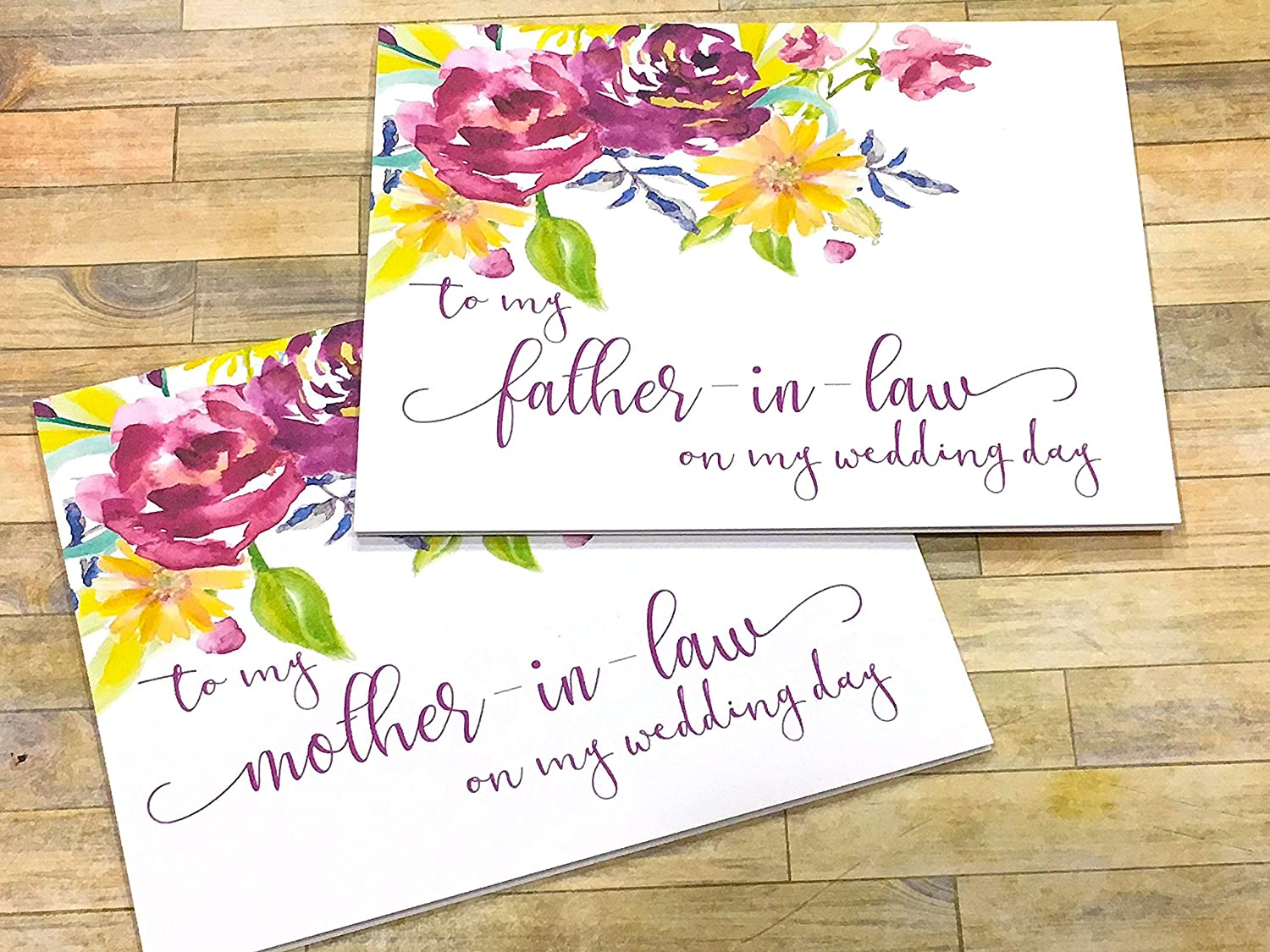 Thank You For Raising The Man of My Dreams Floral Card for Mother in Law Wedding Card Mother in Law Wedding Card