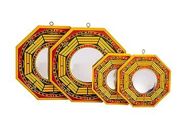 Amazon De Set Of 4 Chinese Feng Shui Bagua Spiegel 10 2 Cm 15 2