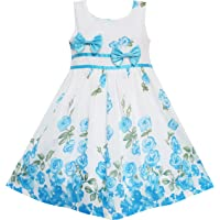 5021bdc81e1f Best Sellers in Girls' Dresses. #1. Sunny Fashion Girls Dress Rose Flower  Double Bow Tie Party Sundress
