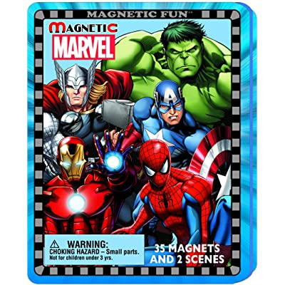 Magnetic Fun Travel Tin: Marvel Super Heroes: Toys & Games