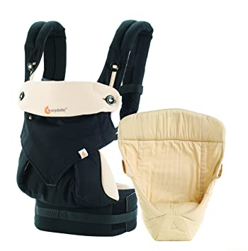 5970d938da5 Amazon.com   Ergobaby Bundle - 2 Items  Black Camel All Carry Position  Award Winning 360 Baby Carrier and Easy Snug Infant Insert