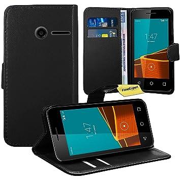 best website 16bd8 a638c Vodafone Smart First 6 Case, FoneExpert® Premium Leather Flip Wallet Book  Kickstand Bag Case Cover For Vodafone Smart First 6 (Black)