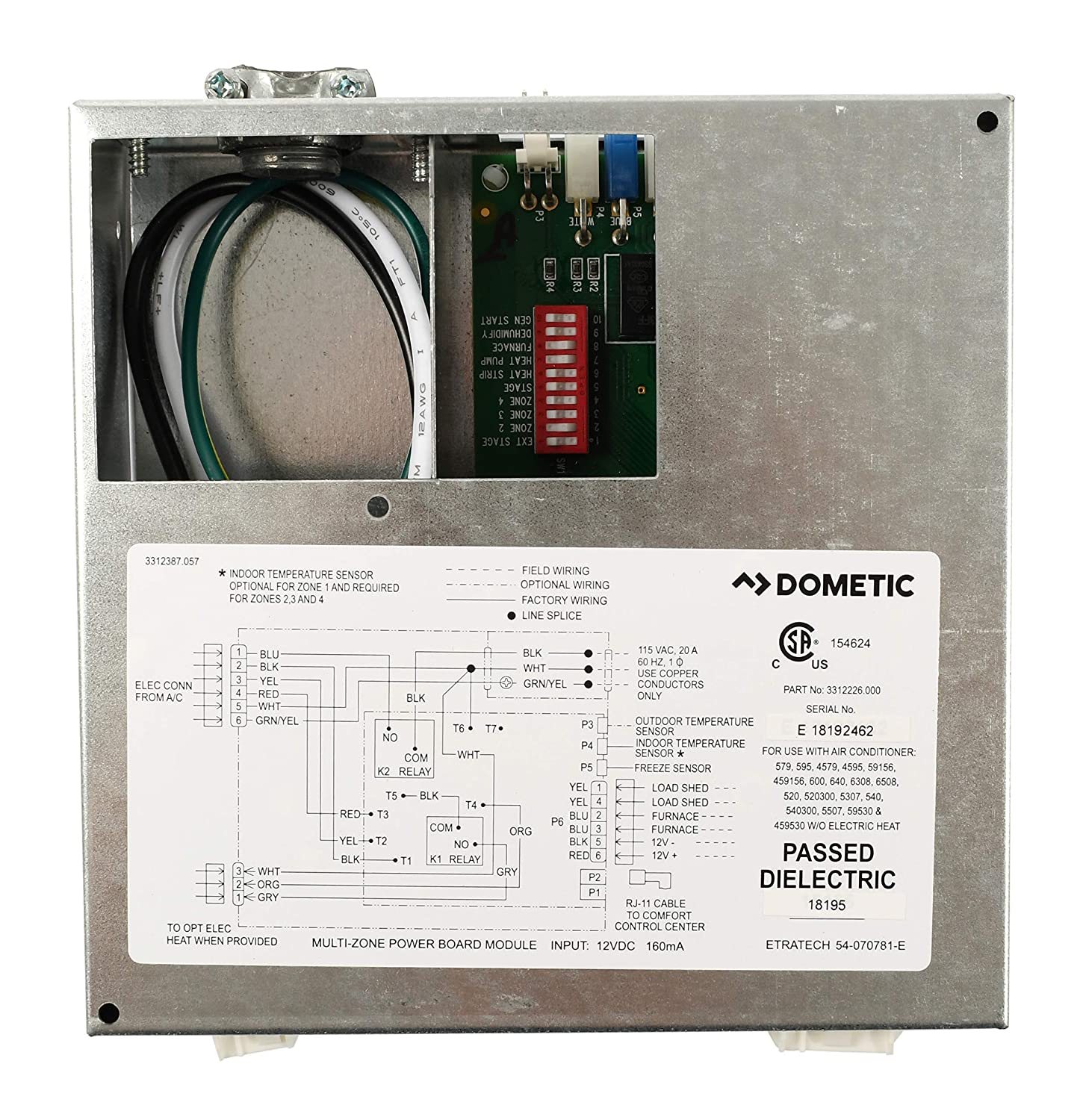 Dometic Duo Therm Thermostat Wiring Diagram Also Honeywell Thermostat
