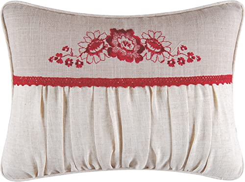 C F Home Jasleen Embroidered Pillow 12 x 16 White