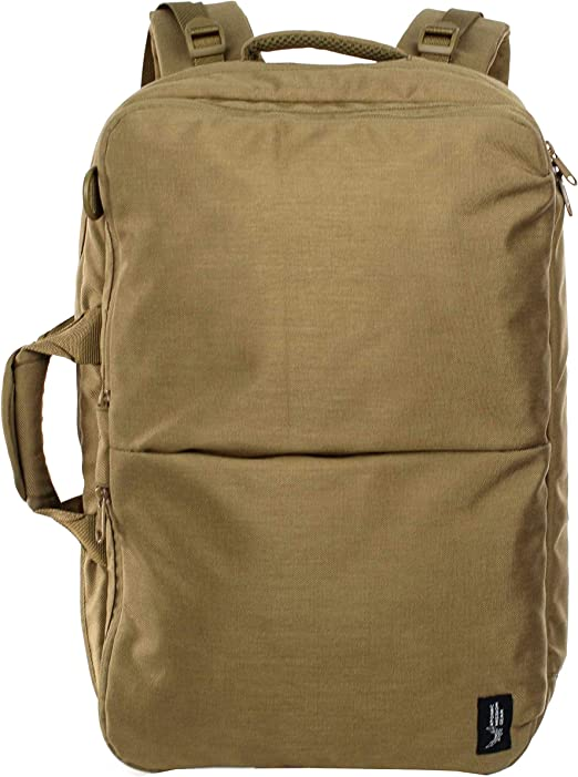 AMG Venture Versatile Bag Carried Horizontally or Vertically as a Backpack Military Inspired Bag Coyote Brown