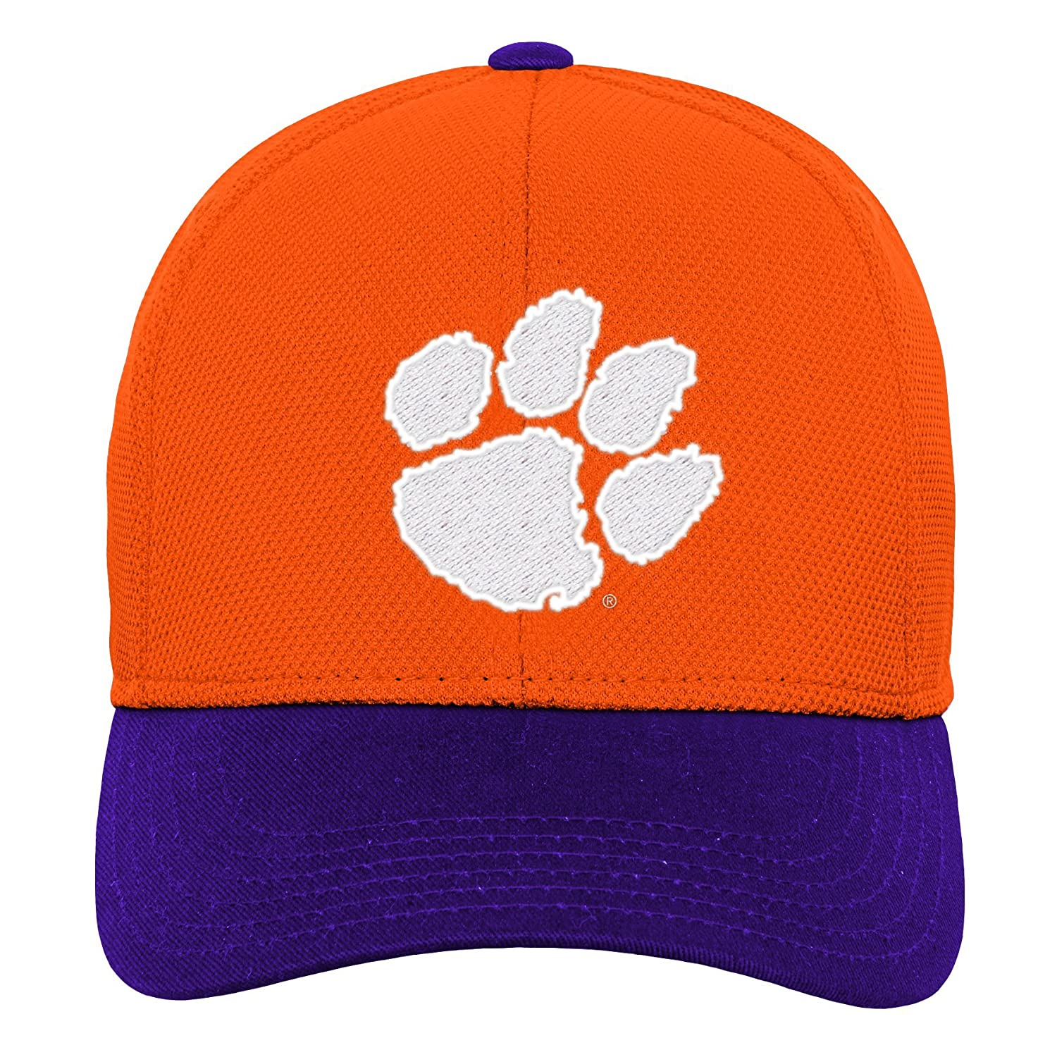 Youth One Size Team color NCAA Clemson Tigers Youth Outerstuff Velocity Structured Flex Fitted Hat