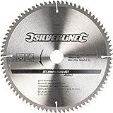 Silverline 244964 Tct Veneer Lama 80T 250 x 30 - 25, 20, 16 mm Anelli