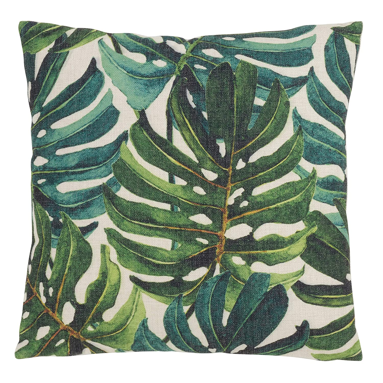 SARO LIFESTYLE Feuille de Bananier Design バナナリーフスロー枕 18インチ グリーン   B07N1K1M98